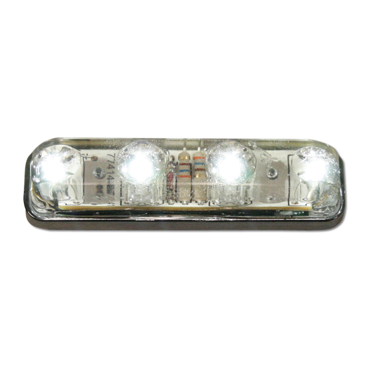 77144 Small Thin Lin Surface Mount LED Light in White/Clear