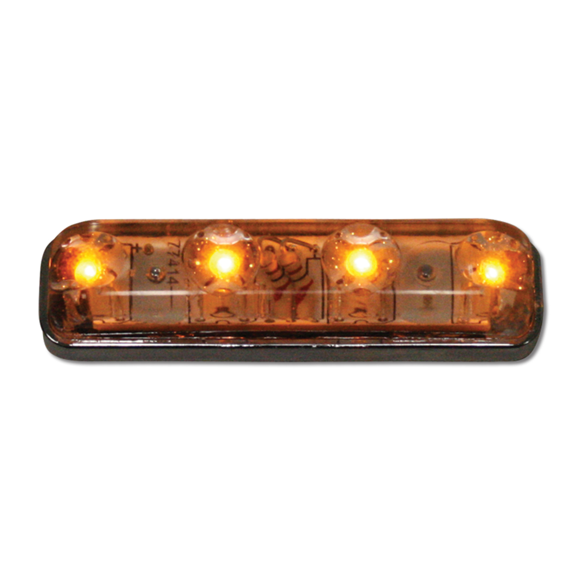 77145 Small Thin Lin Surface Mount LED Light in Amber/Clear