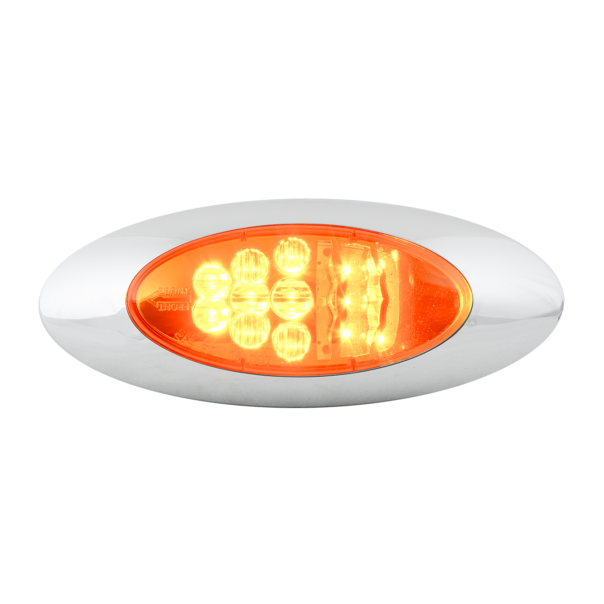 77270 Y2K LED Turn/Marker Light with Chrome Bezel in Amber/Amber