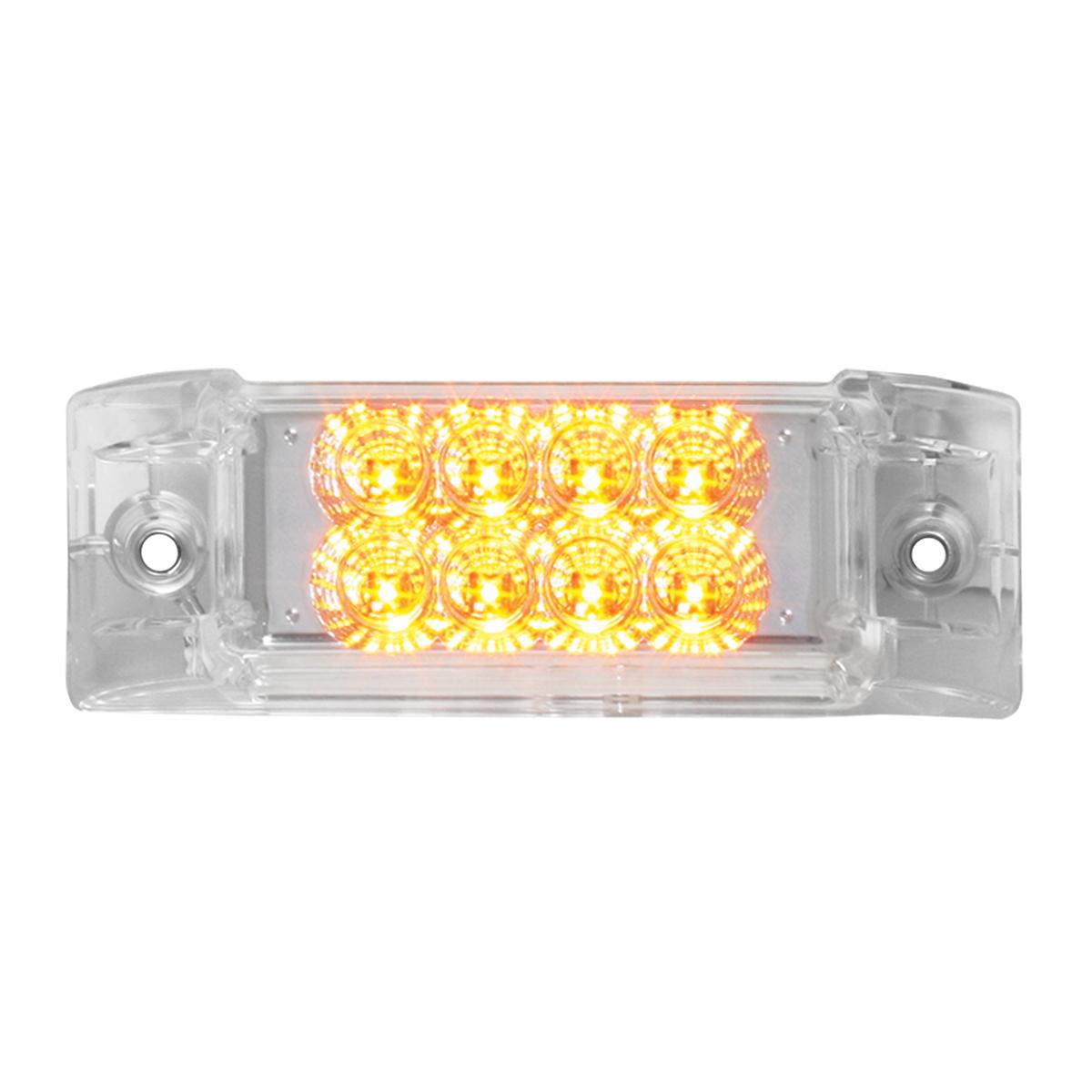 77661 Rectangular Spyder LED Marker Light in Amber/Clear