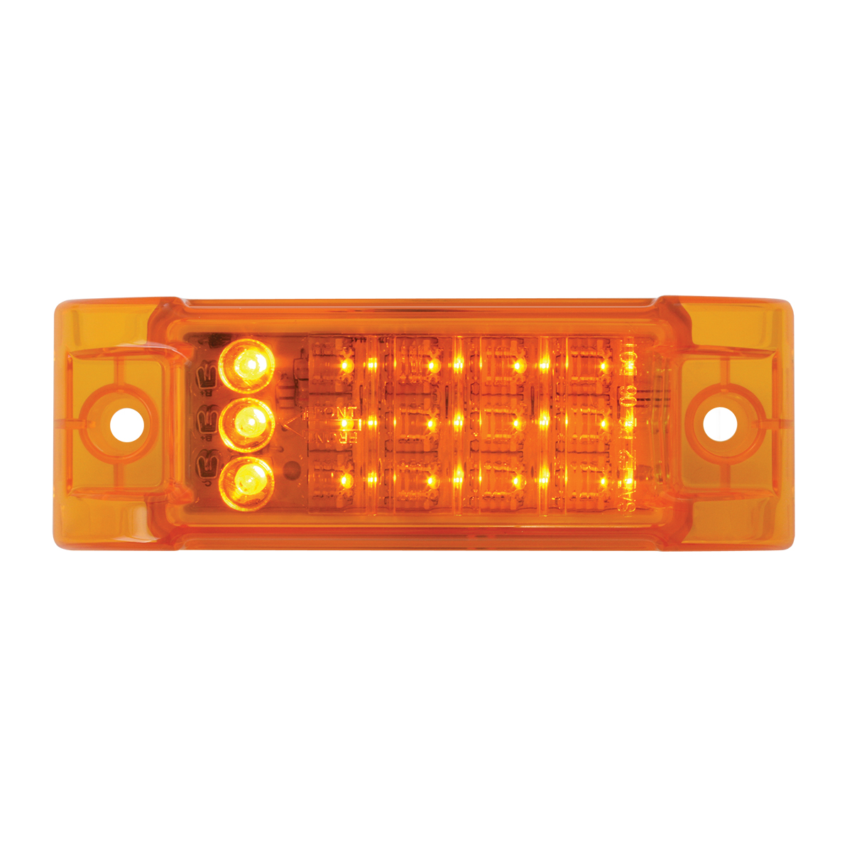 77664 Rectangular LED Turn & Marker Light in Amber/Amber
