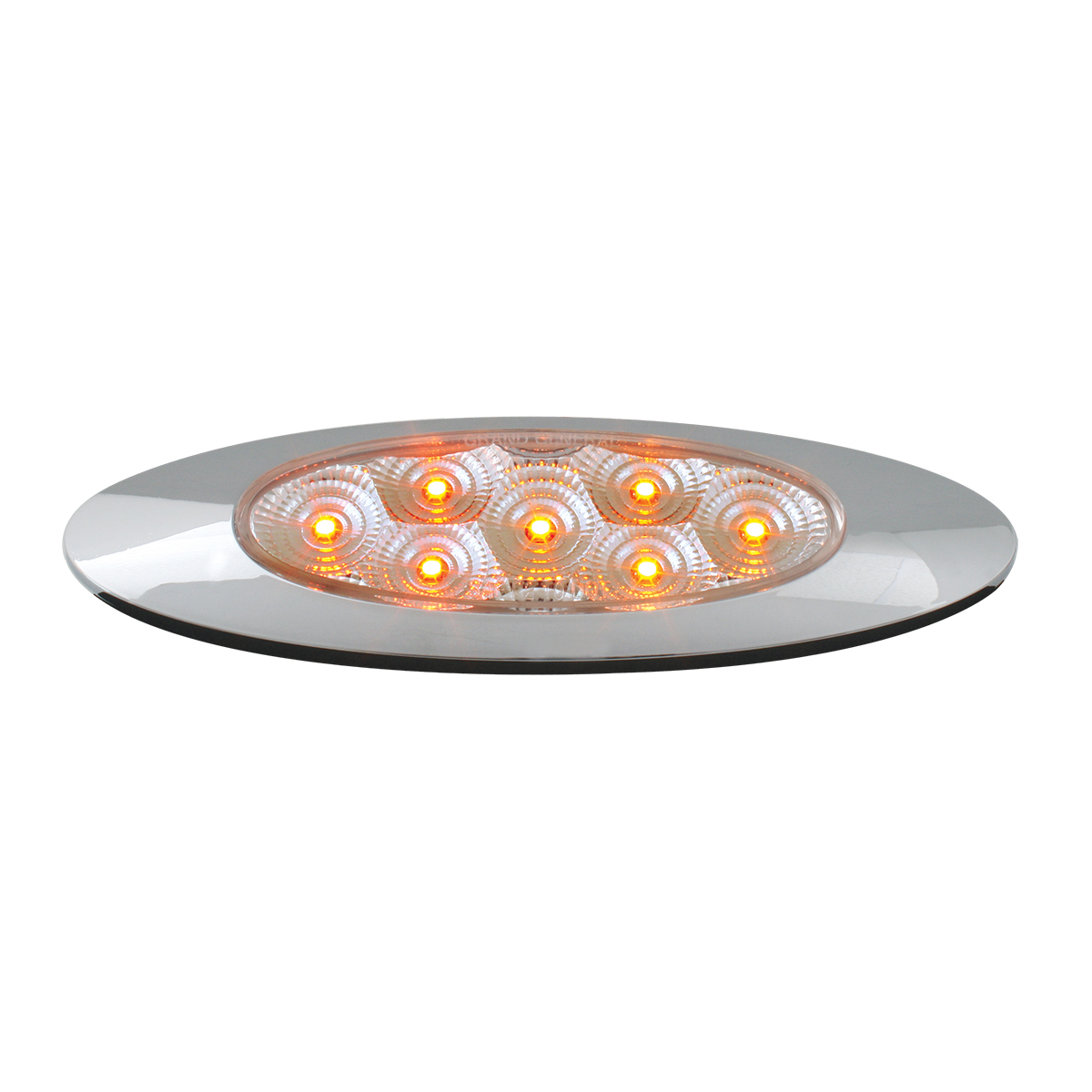 Ultra Thin Y2K Spyder LED Light in Amber/Clear