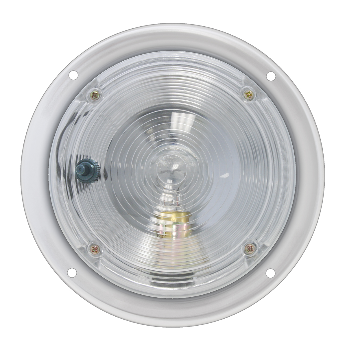 "#77843 5"" Chrome Steel Dome Light"