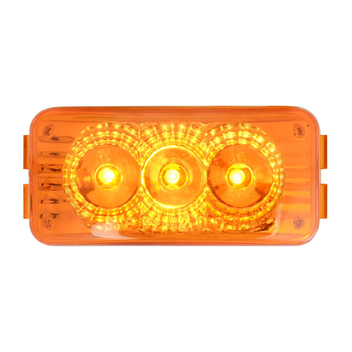 77950 Small Rectangular Spyder LED Marker Light in Amber/Amber