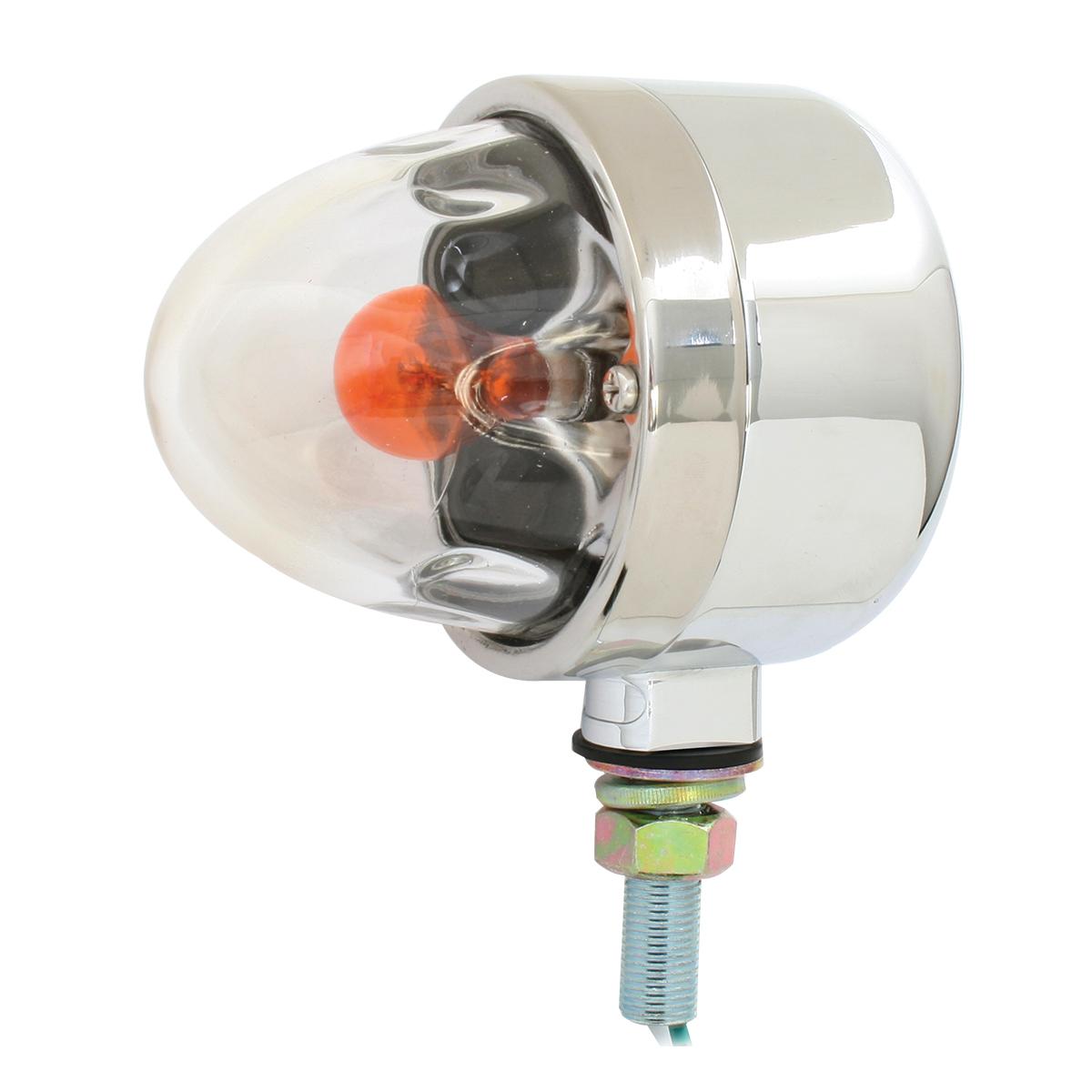 78080 Chrome Die Cast Auxiliary Clear Glass Lens Pedestal Light