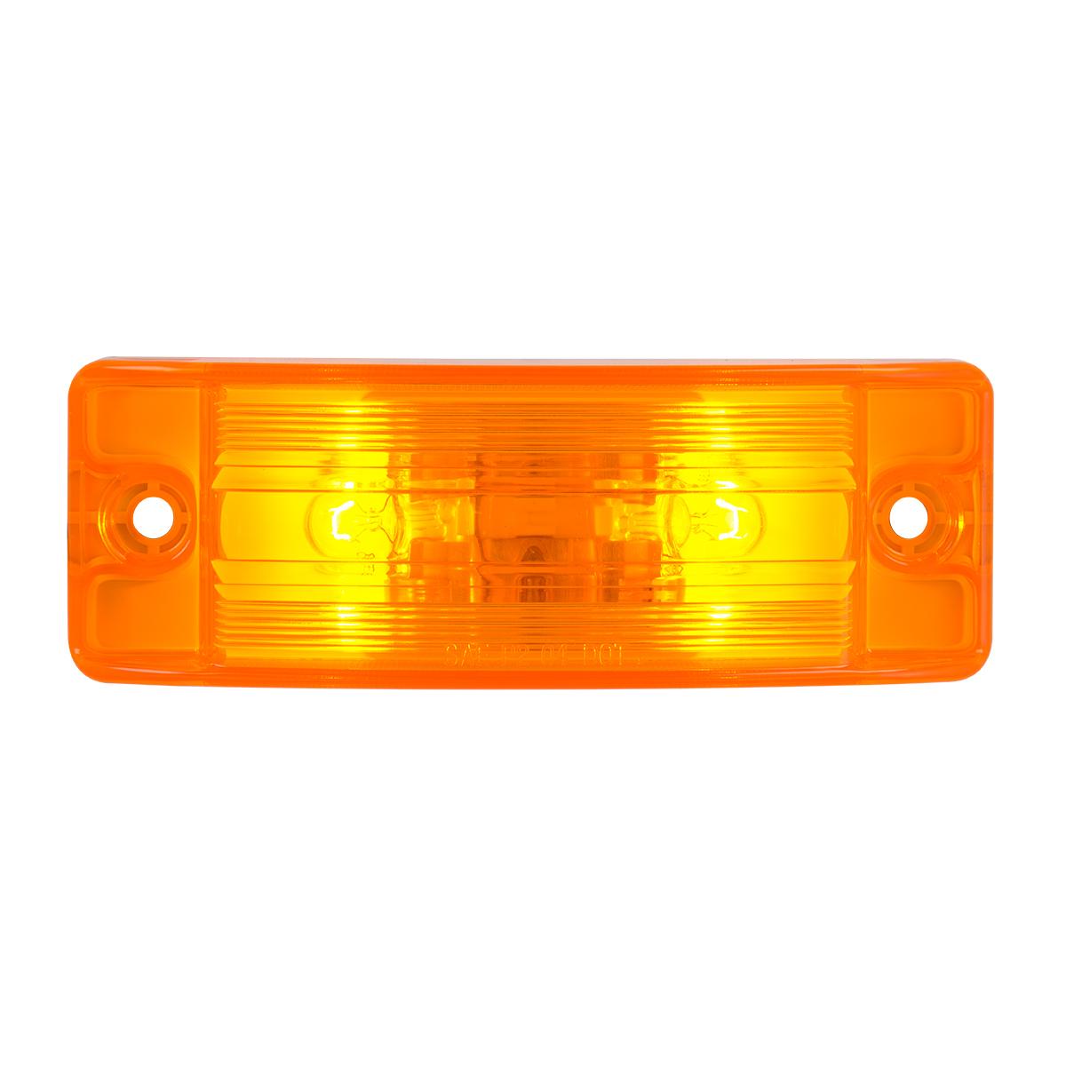 #78280 Regular Turtle Style Rectangular Sealed Amber Light