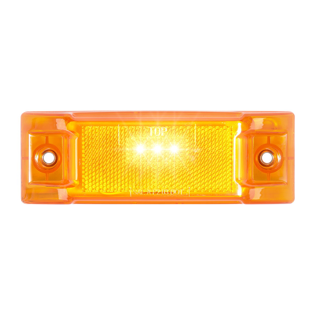 78330 Rectangular LED Marker Light with Reflector Lens in Amber/Amber