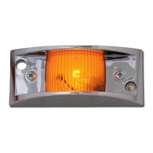 Marker Light with Chrome Guard