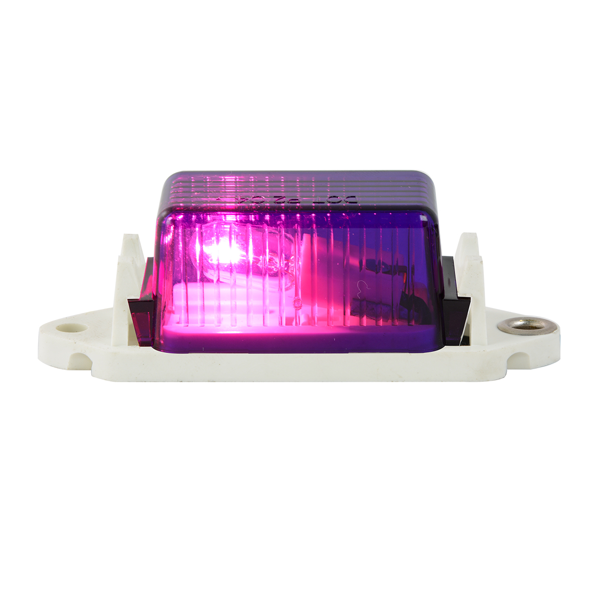 #80250 - Purple Marker Light with White Base