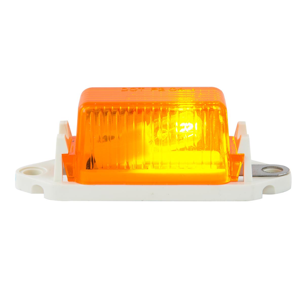 #80251 - Amber Marker Light with White Base