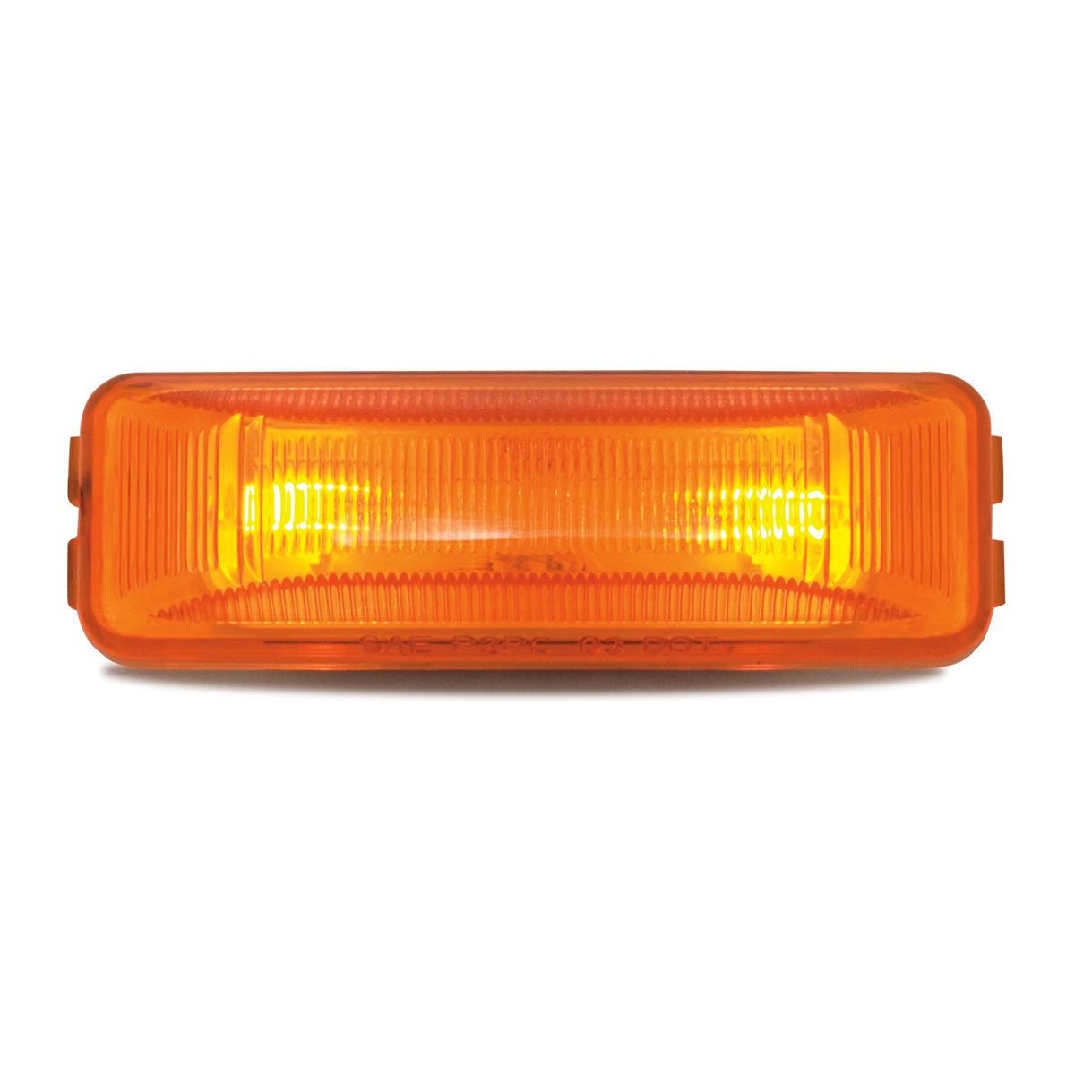 #80344 Medium Rectangular Two-Bulb Sealed Light Only - Amber