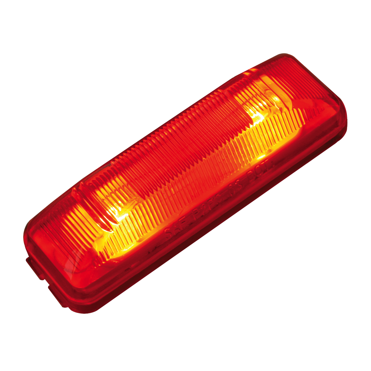 #80345 Medium Rectangular Two-Bulb Sealed Light Only - Red