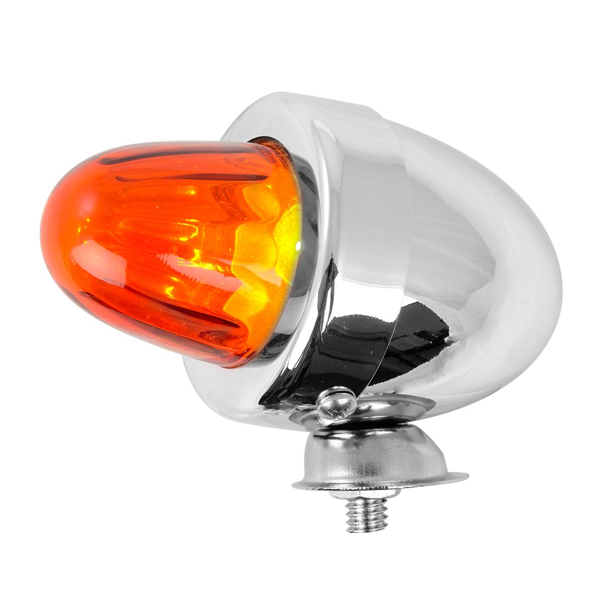 #80481 Bullet Shape Marker Light with Amber Glass Lens