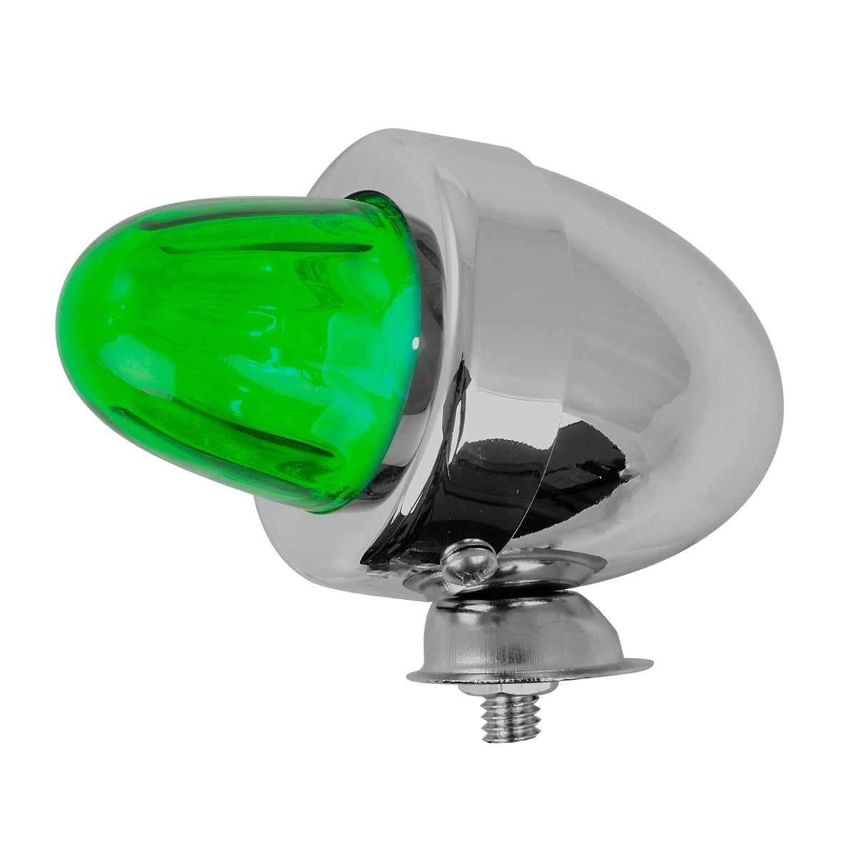 #80483 Bullet Shape Marker Light with Green Glass Lens