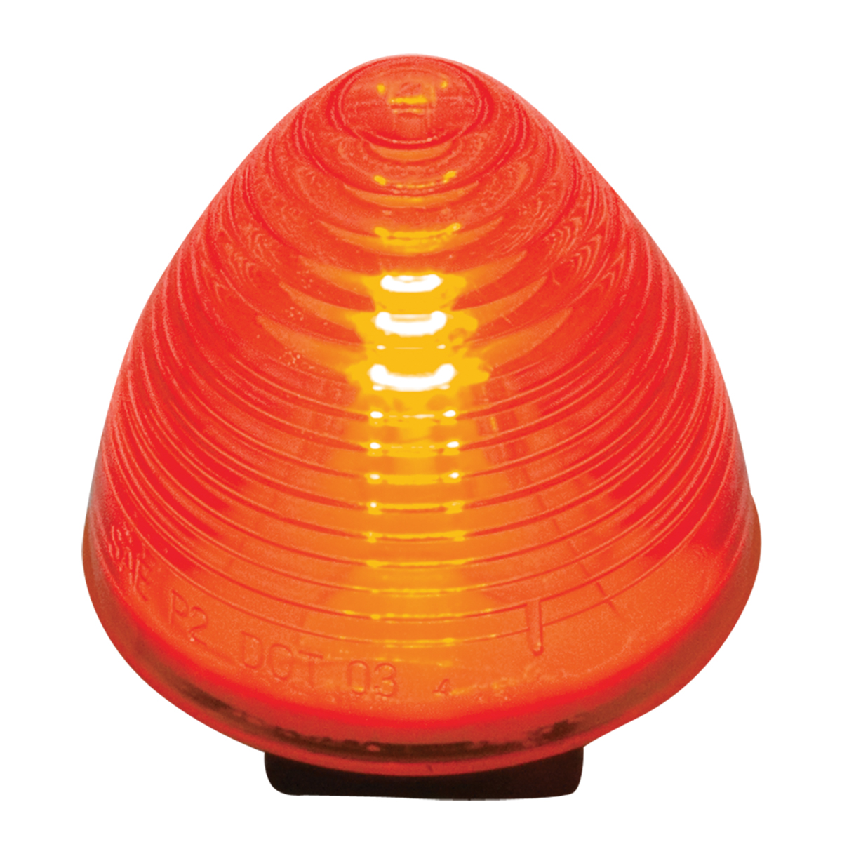 Red Sealed Beehive Marker & Clearance Light
