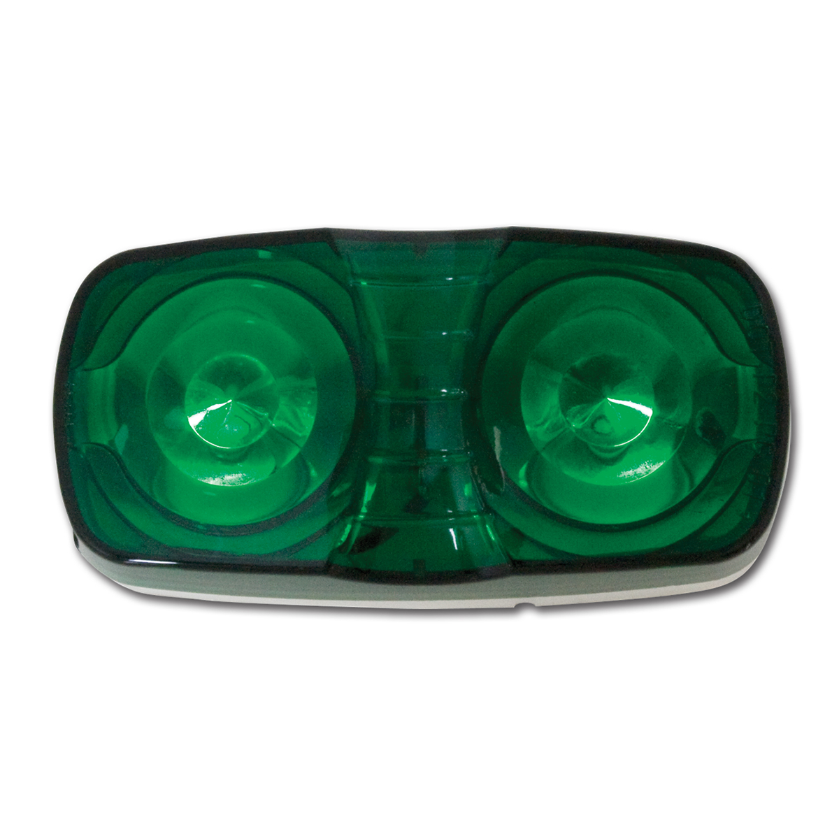 #82923 Tiger Eye Two-Bulb Green Light with White Plastic Base
