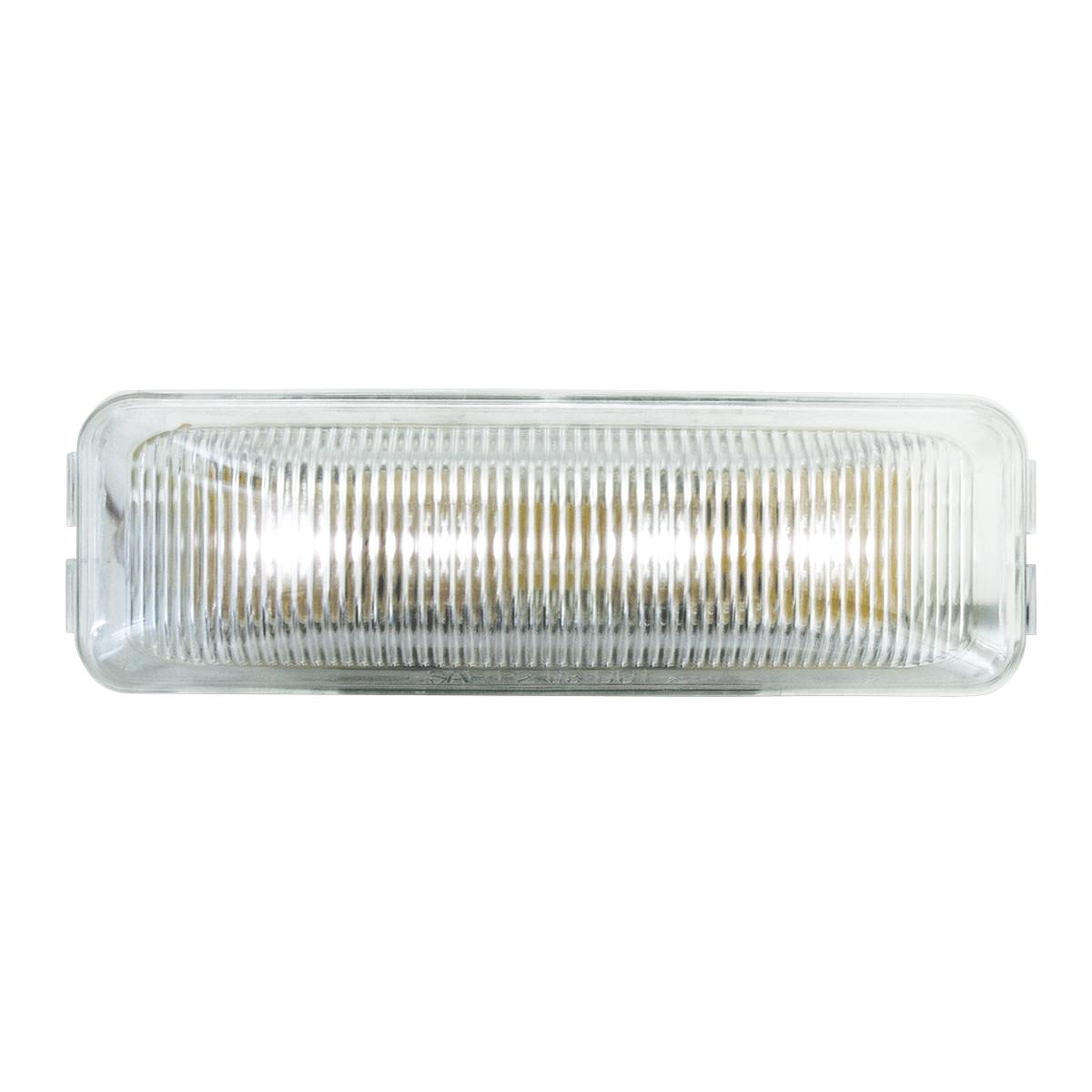 84447 Medium Rectangular LED Marker Light in White/Clear