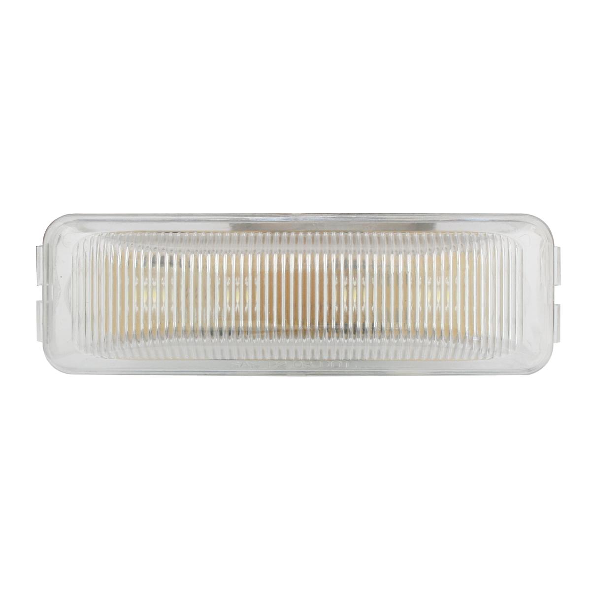 Medium Rectangular LED Marker Light in Clear Lens