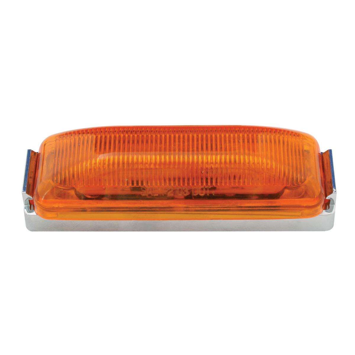 84450 Medium Rectangular LED Marker Light w/ Chrome Bracket