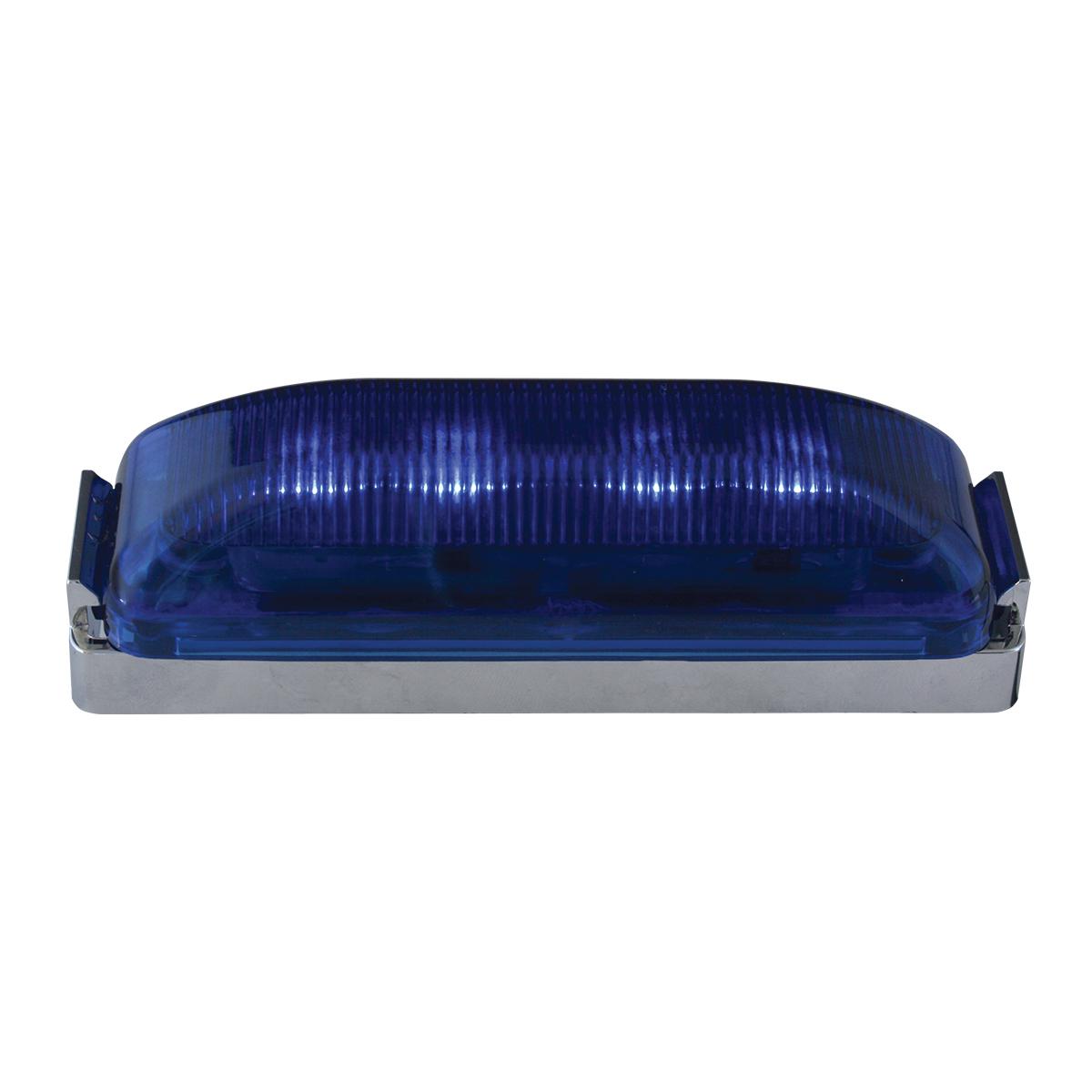 84453 Medium Rectangular LED Marker Light w/ Chrome Bracket