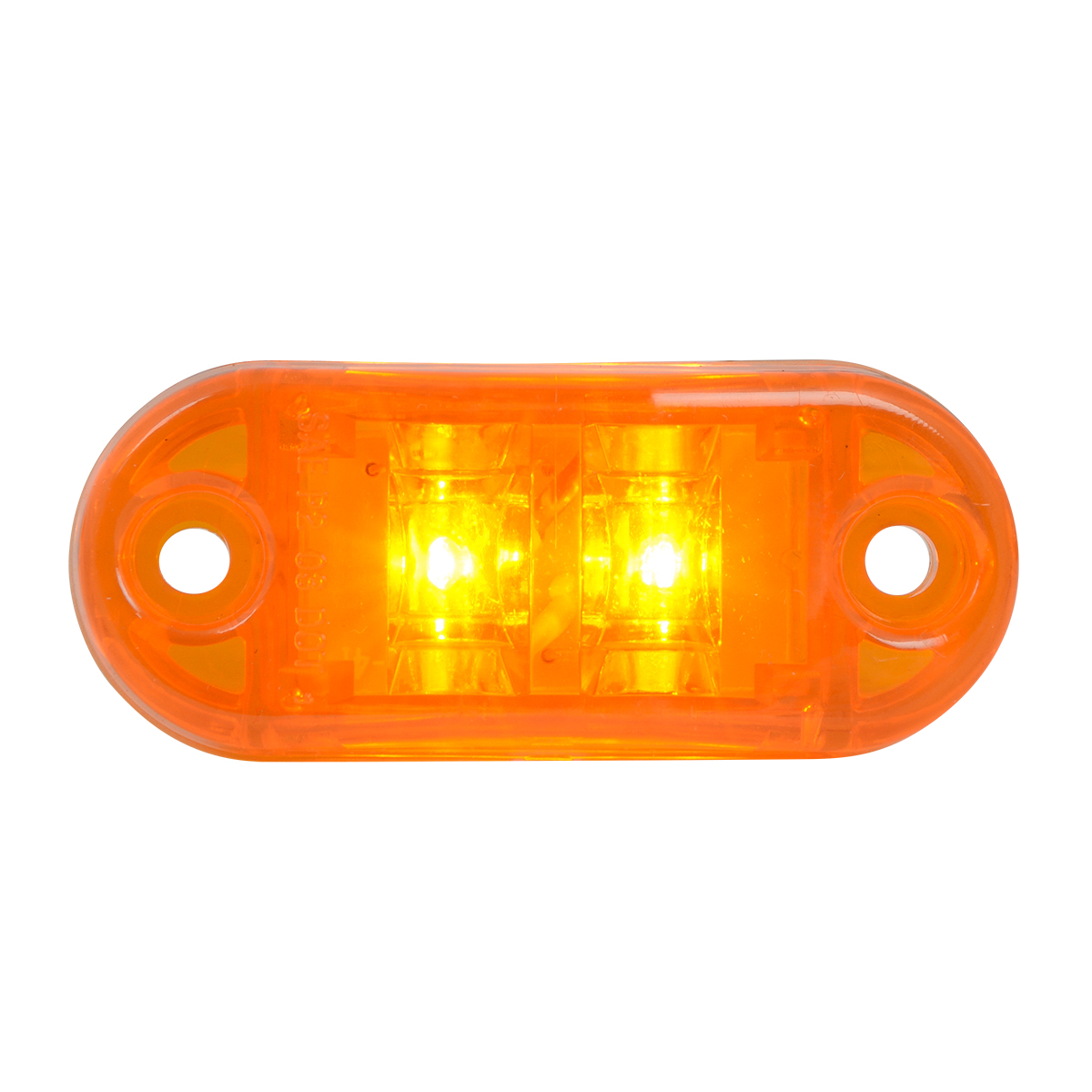 87390 Small Oval LED Marker Light in Amber/Amber