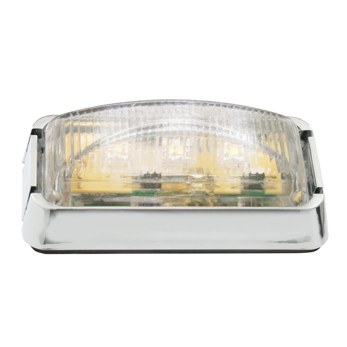 87636 Small Rectangular LED Marker Light with Chrome Bracket