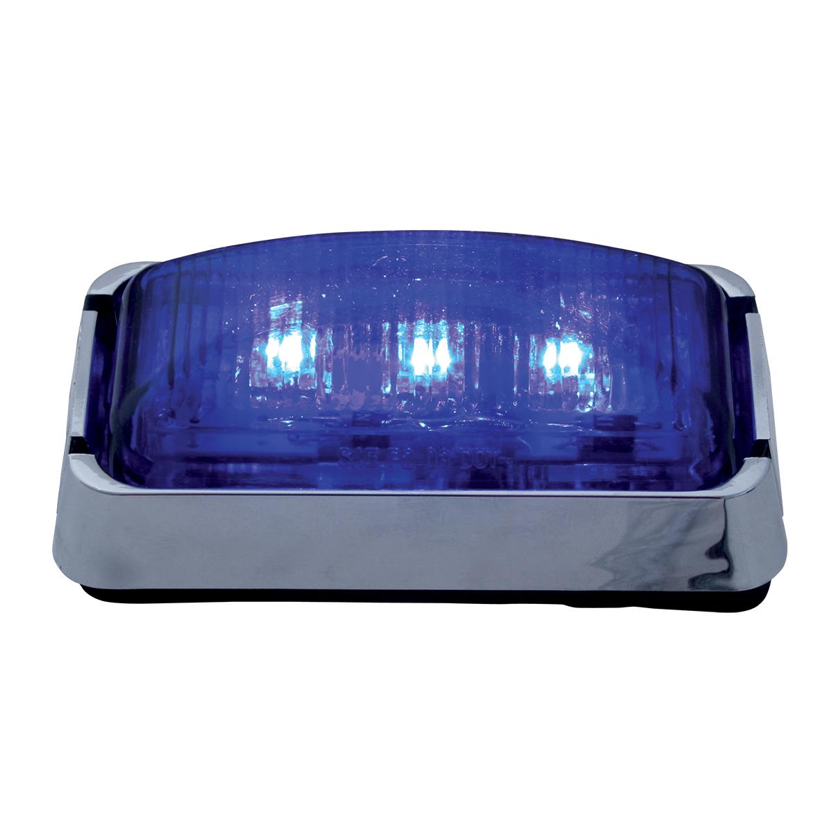 87637 Small Rectangular LED Marker Light with Chrome Bracket