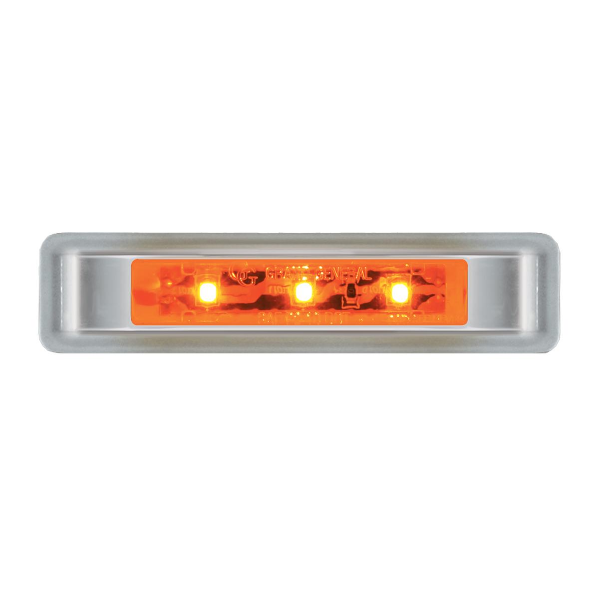 """76130 3.5"""" Ultra Thin LED Marker Light w/ Chrome Plastic Bezel"""