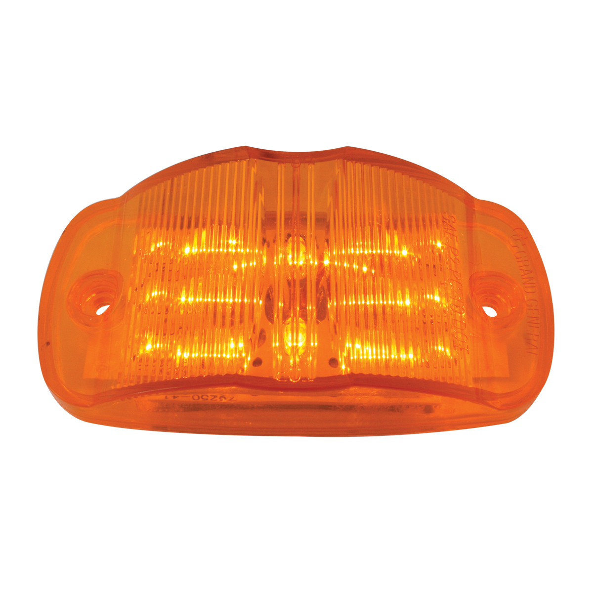 Rectangular Camel Back Wide Angle LED Marker Light in Amber/Amber