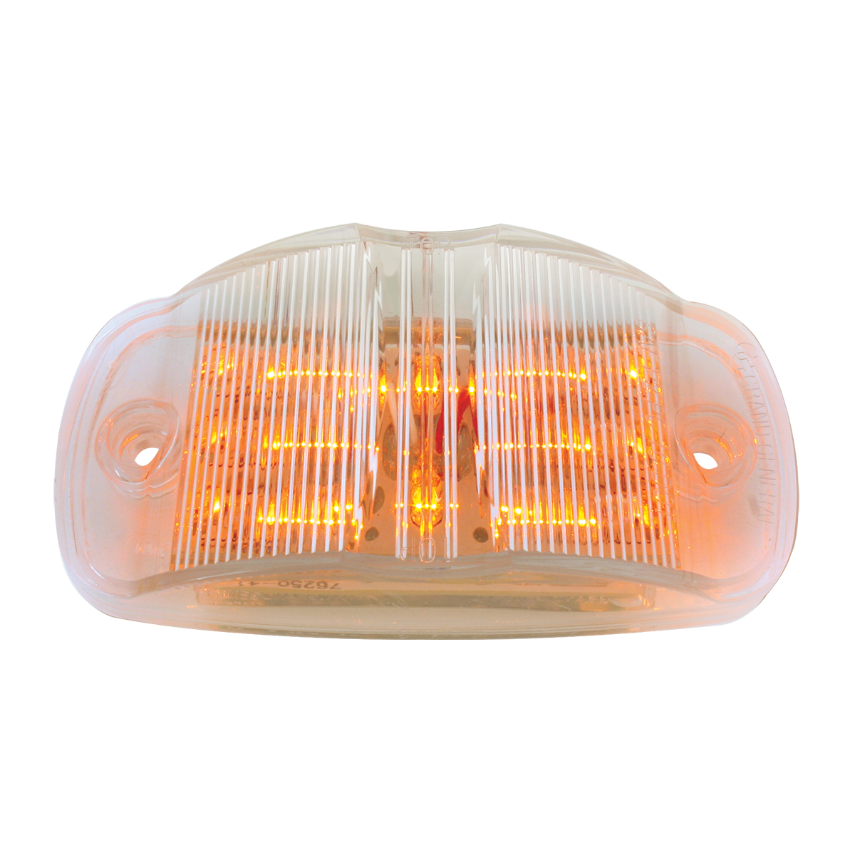 Rectangular Camel Back Wide Angle LED Marker Light in Amber/Clear