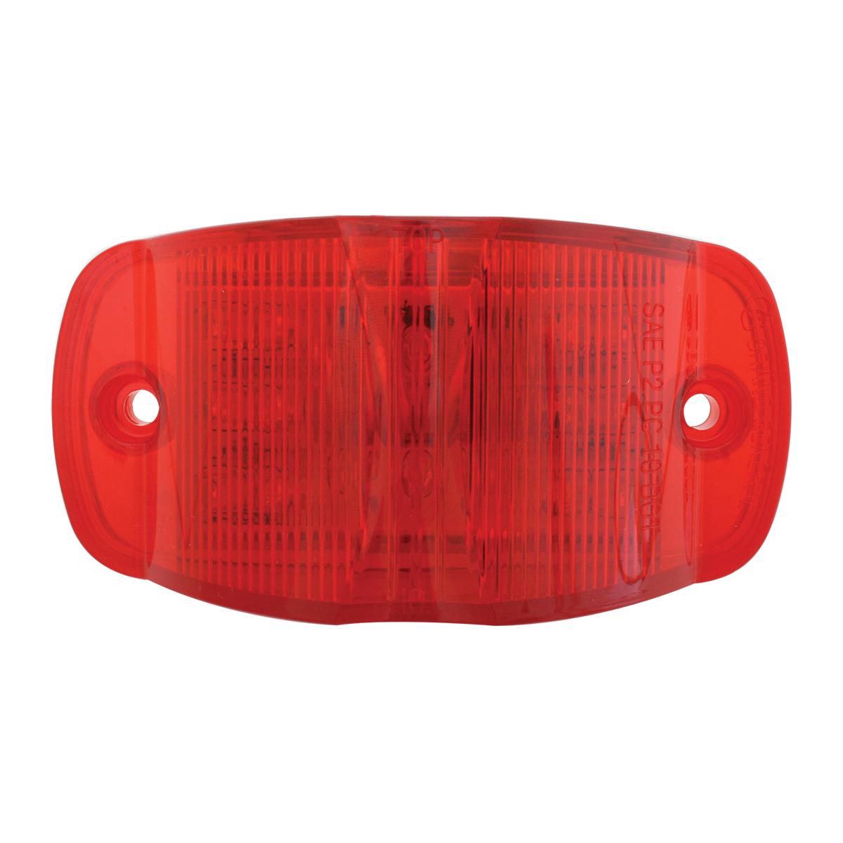 Rectangular Camel Back Wide Angle LED Marker Light in Red/Red