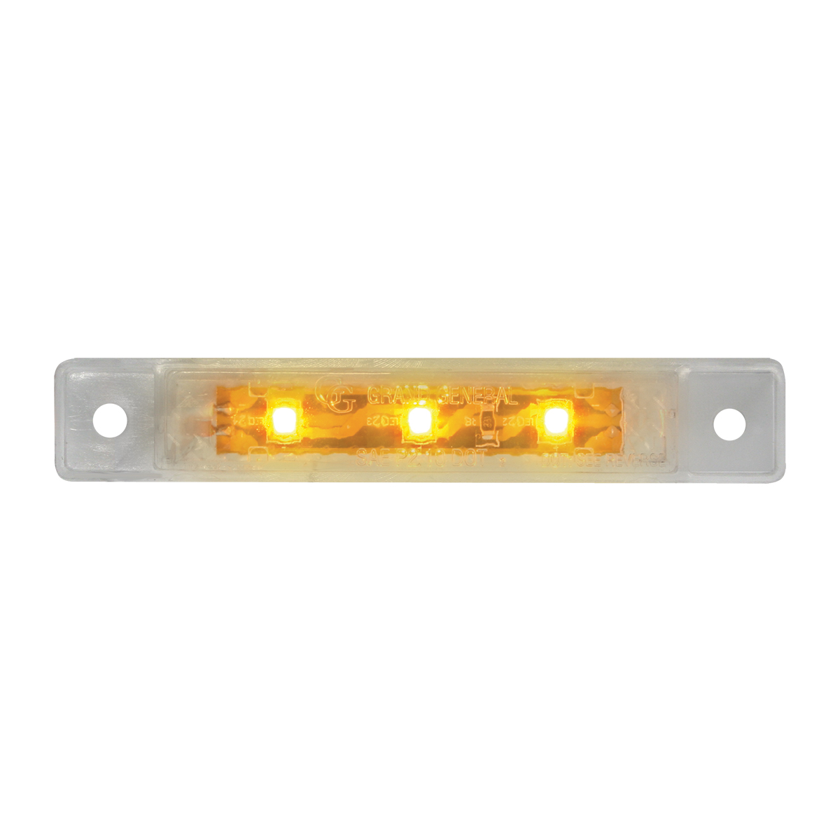 """76281 3.5"""" Ultra Thin LED Marker Light in Clear Lens"""