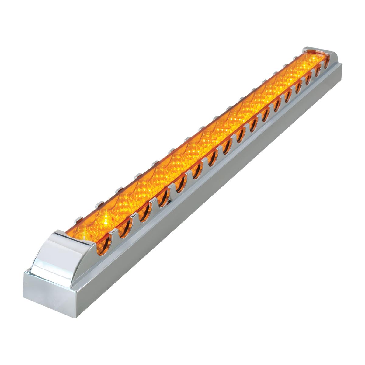 """76300 20"""" Spyder LED Light Bar w/ Chrome Plastic Bezel"""