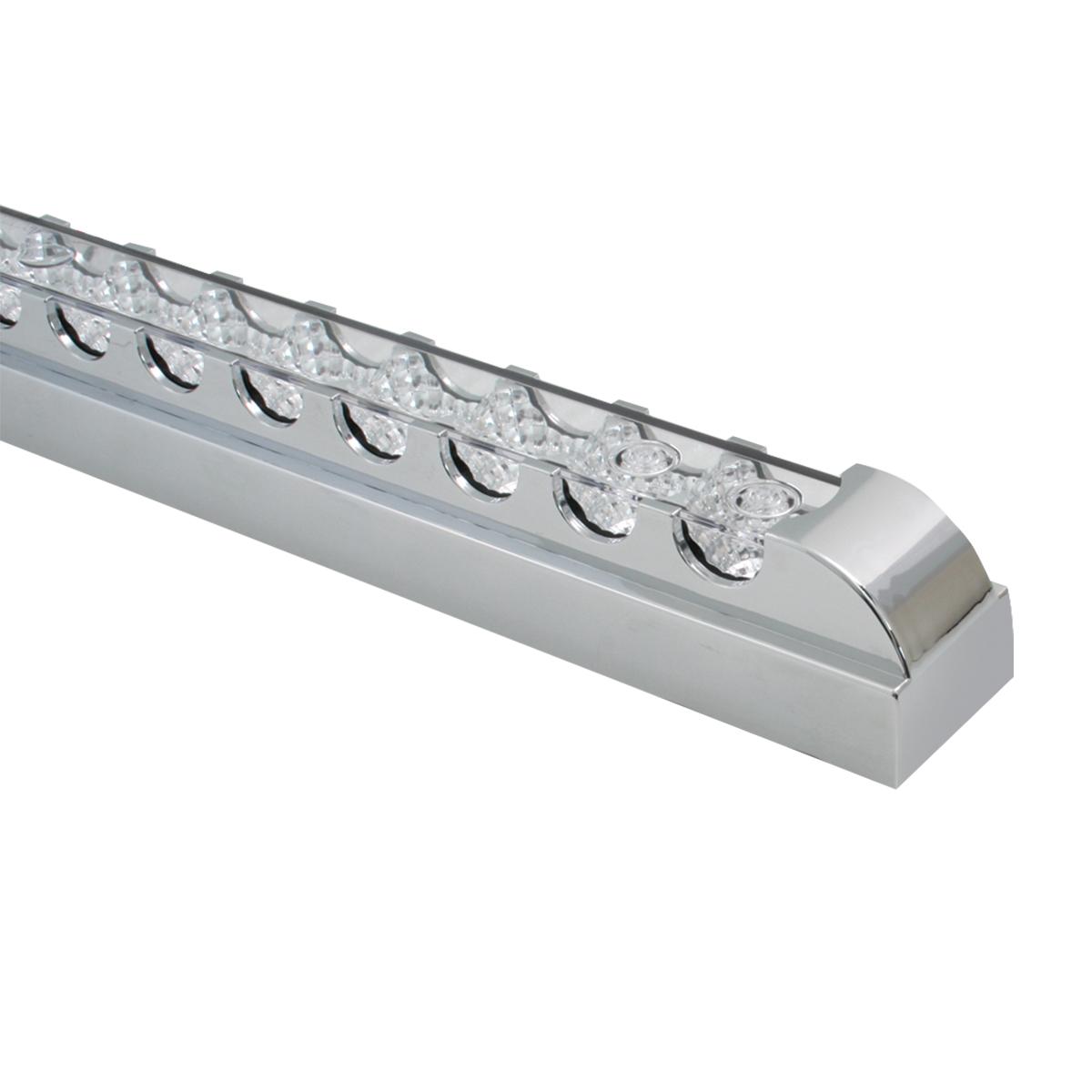 """20"""" Spyder LED Light Bar in Clear Lens w/ Chrome Plastic Bezel"""