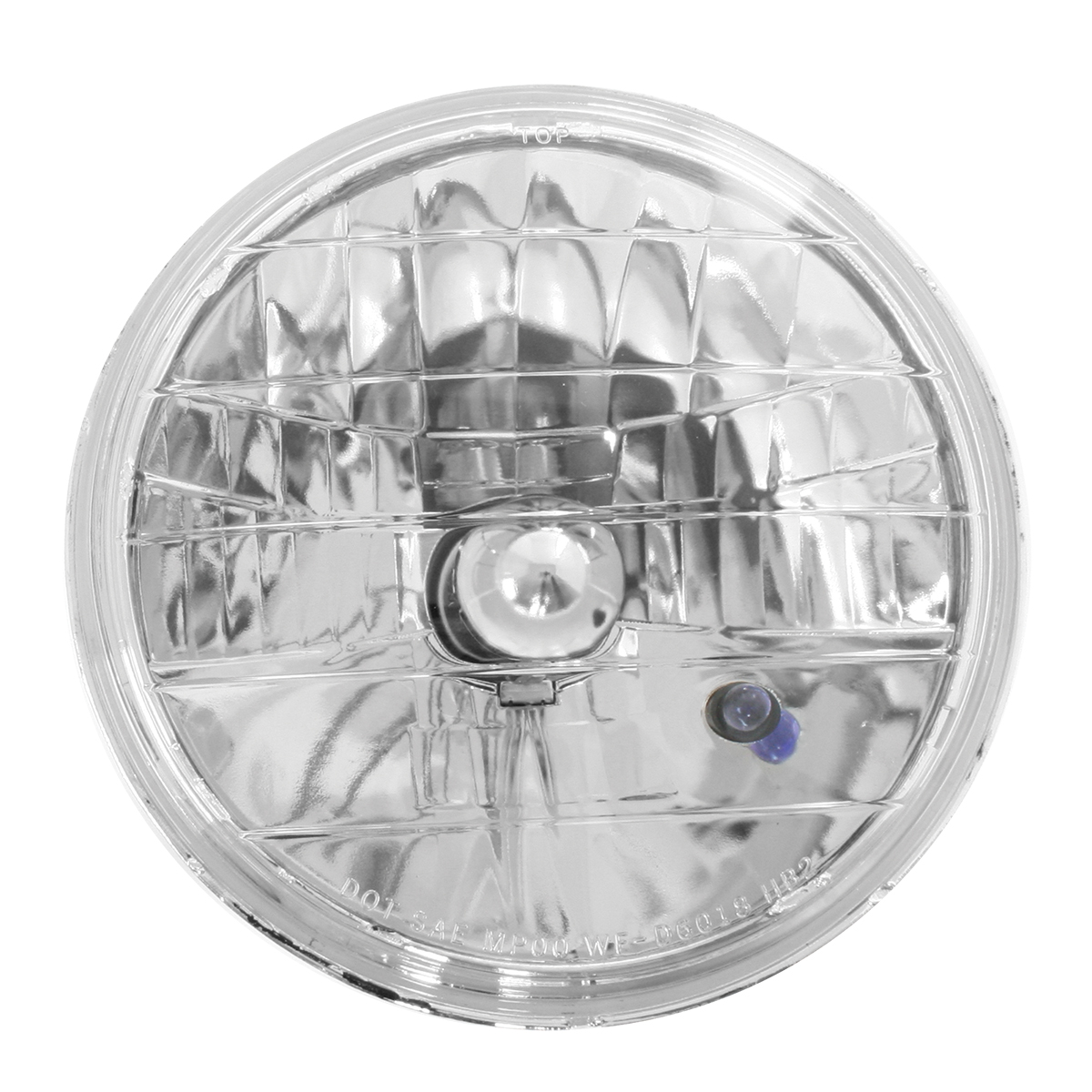 #77410 Round Headlamp with #H4 Halogen Bulb