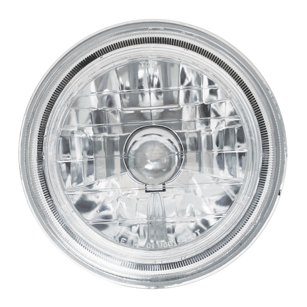 #77411 Round Headlamp with #H4 Halogen Bulb