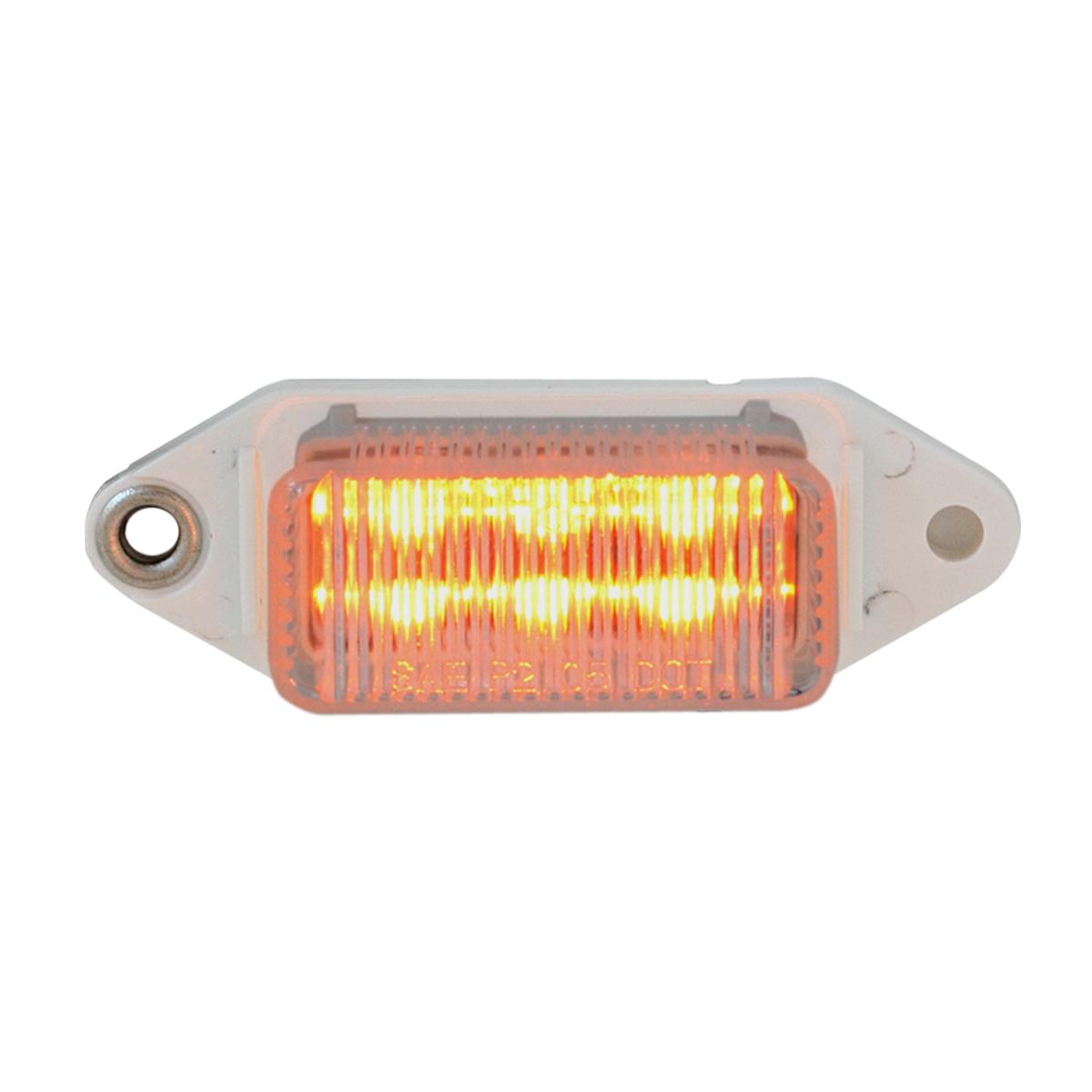 78371 Mini Rectangular LED Marker Light in Amber/Clear