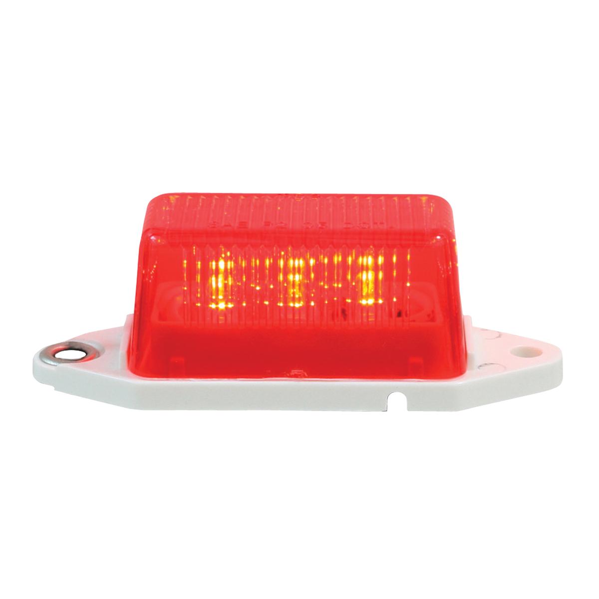 78372 Mini Rectangular LED Marker Light in Red/Red