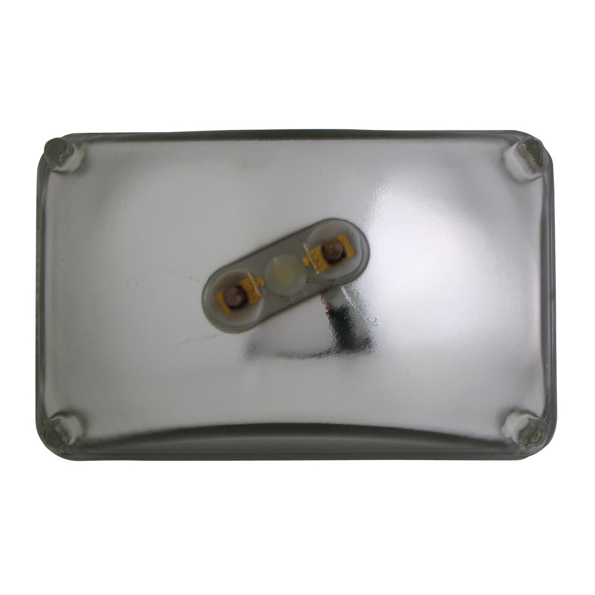 #80428 Rectangular Sealed Beam #H4651 Headlight - Back View