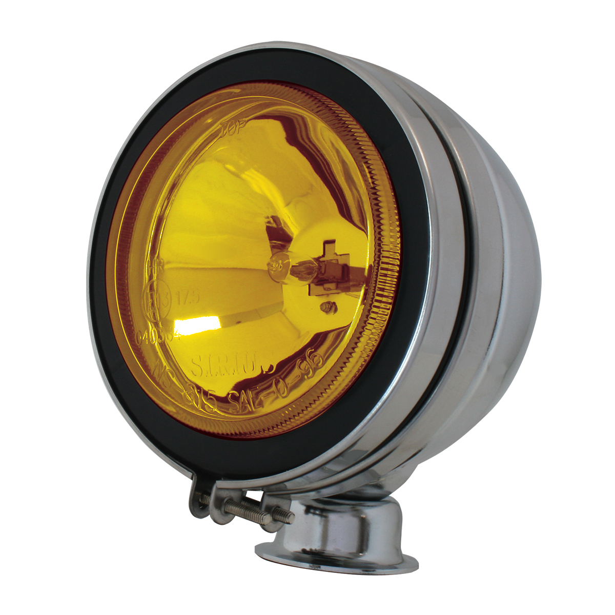 """#80631 5"""" Chrome Plated Off-Road Light 55 watts - Amber"""