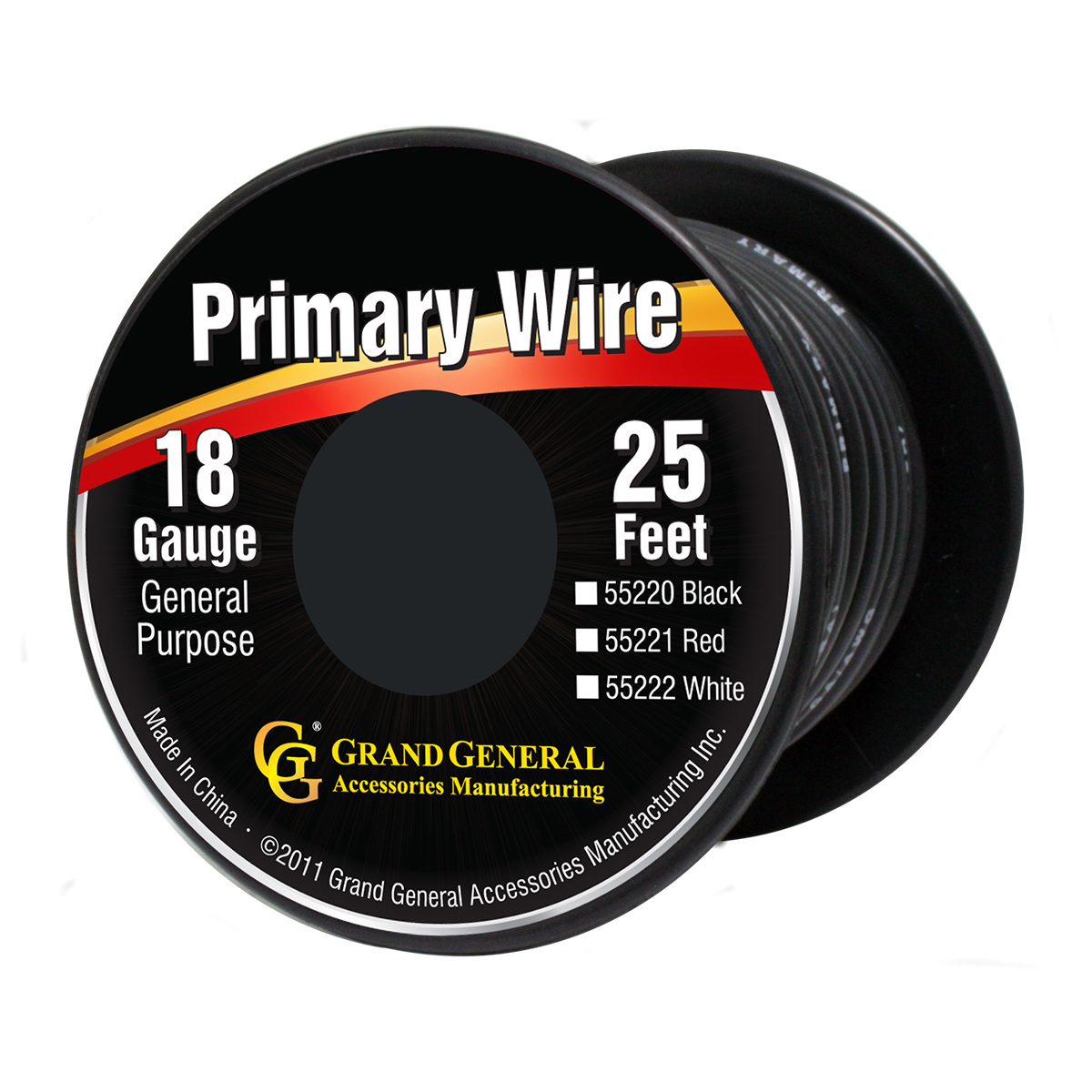 55220/55220SP Primary Wire in 18 Gauge, 25 Feet