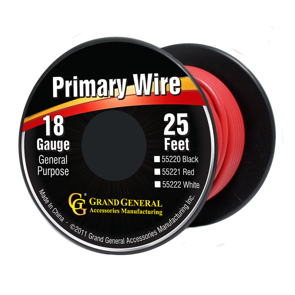 55221/55221SP Primary Wire in 18 Gauge, 25 Feet