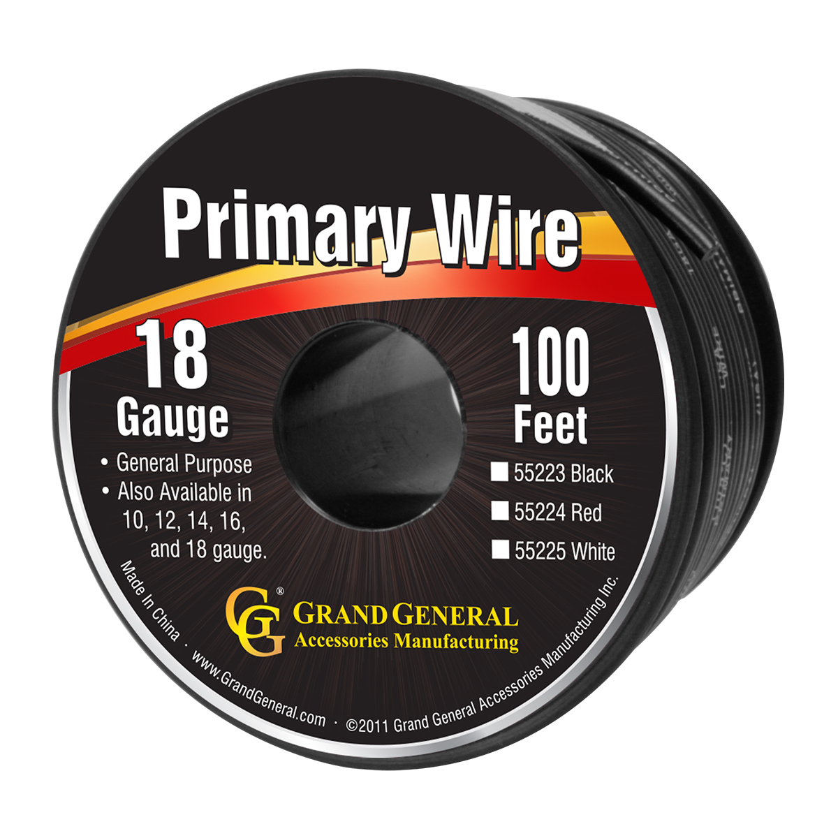 55223 Primary Wire in 18 Gauge, 100 Feet