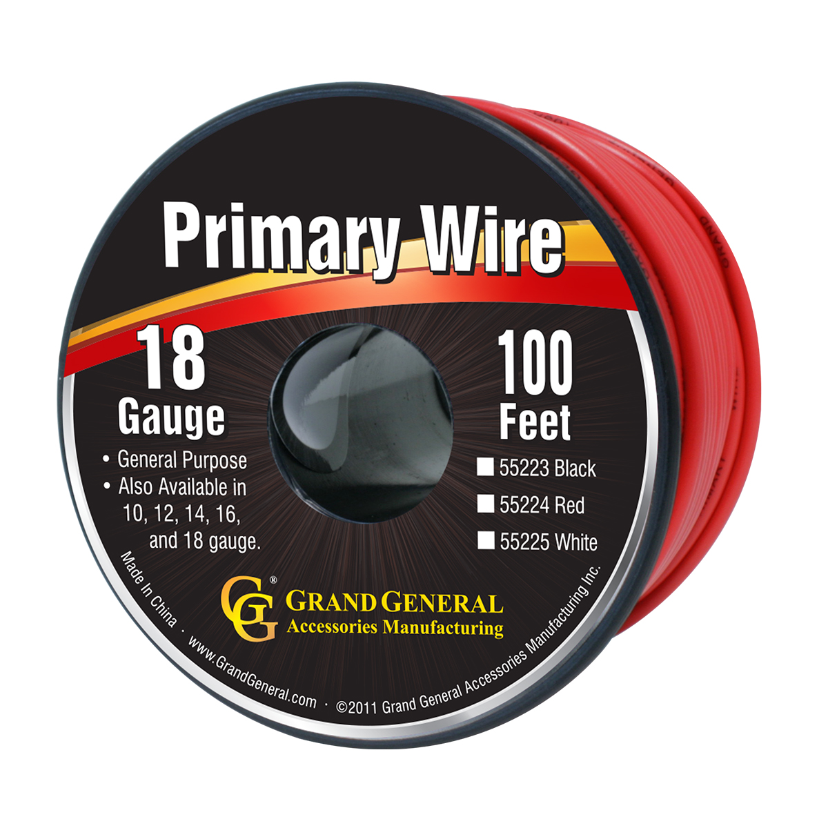 55224 Primary Wire in 18 Gauge, 100 Feet