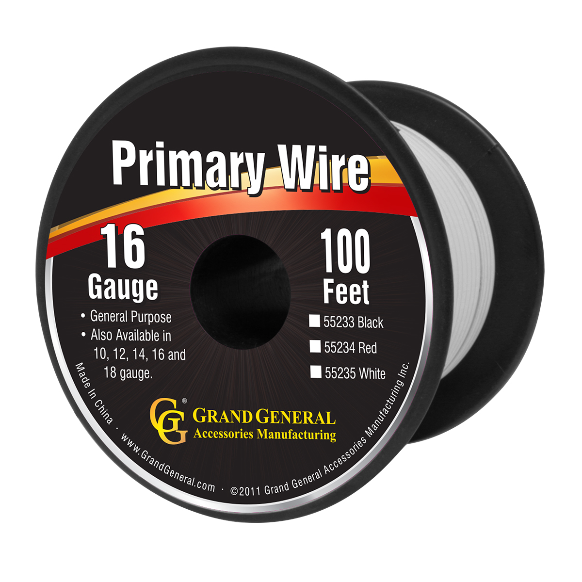 55235 Primary Wire in 16 Gauge, 100 Feet