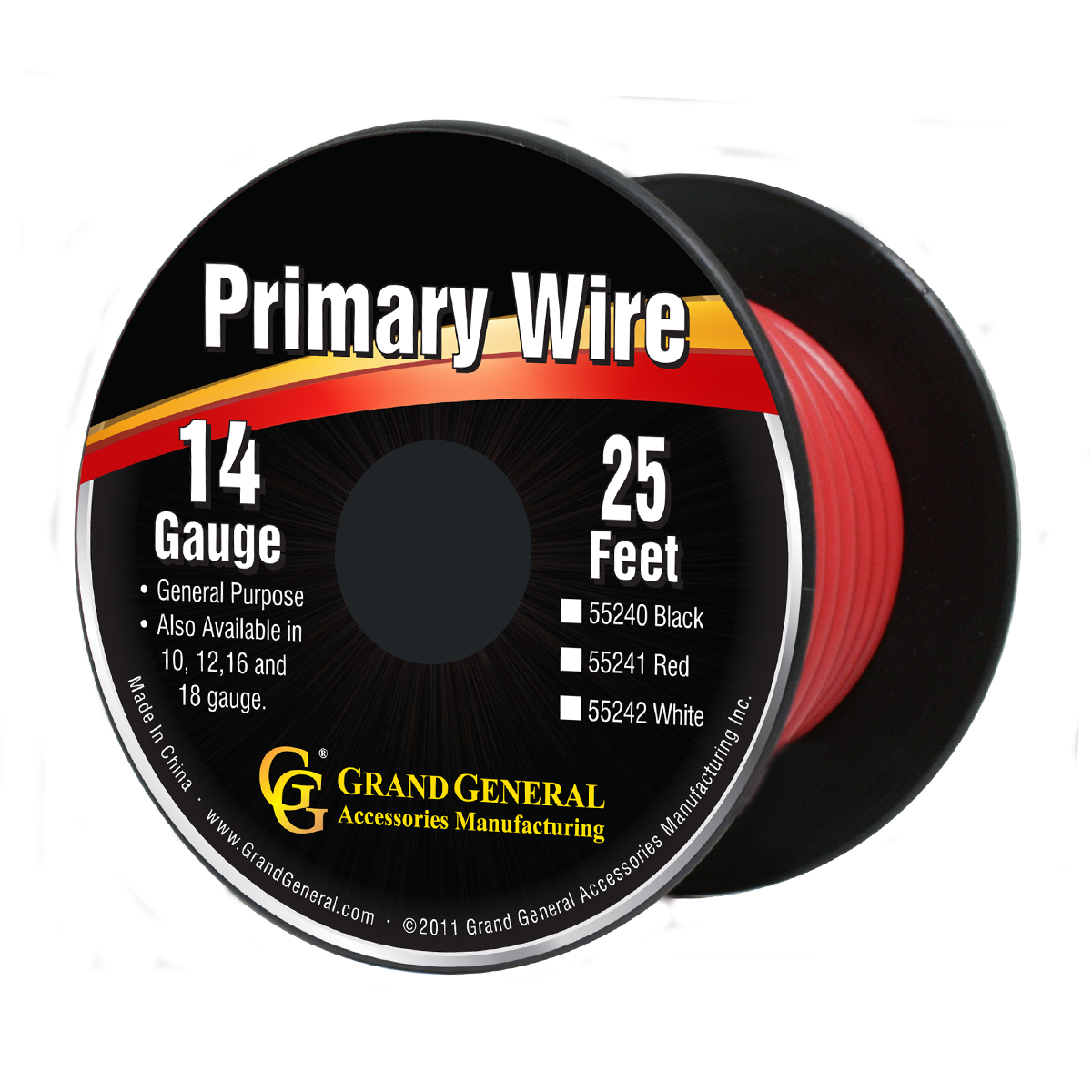 55241/55241SP Primary Wire in 14 Gauge, 25 Feet