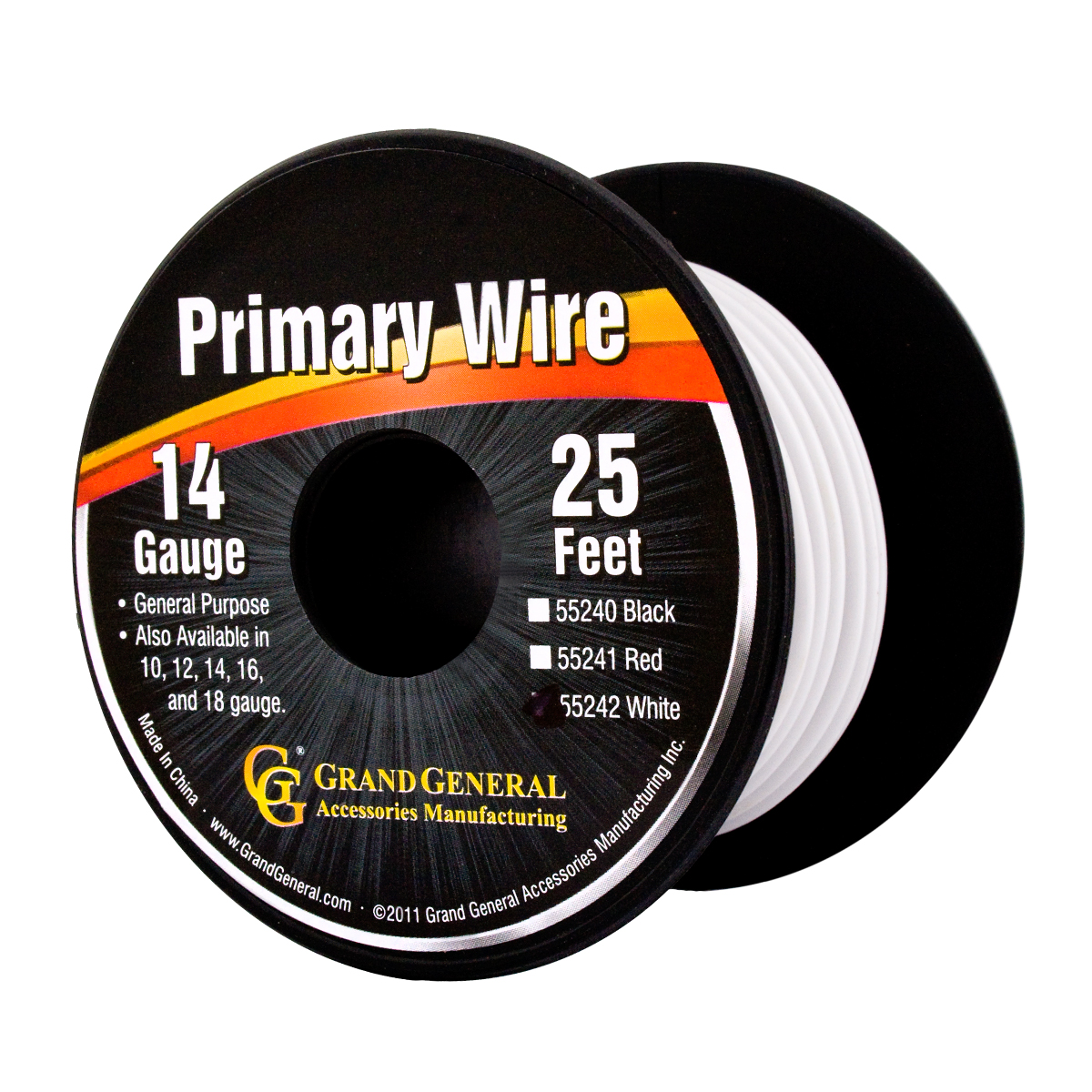 55242/55242SP Primary Wire in 14 Gauge, 25 Feet
