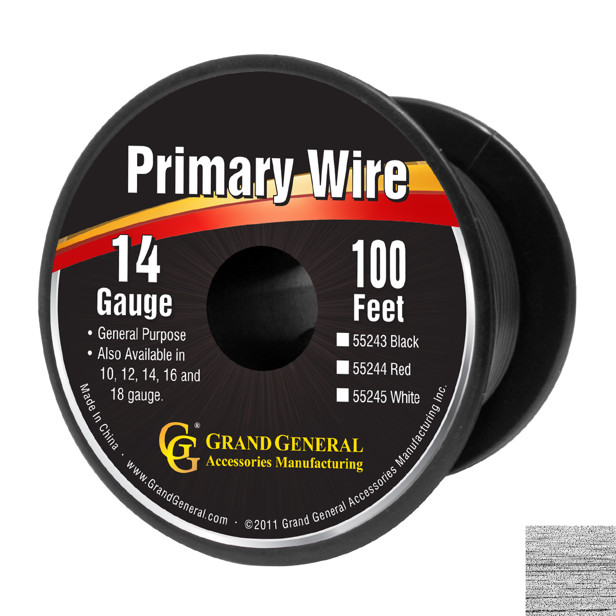 55243 Primary Wire in 14 Gauge, 100 Feet