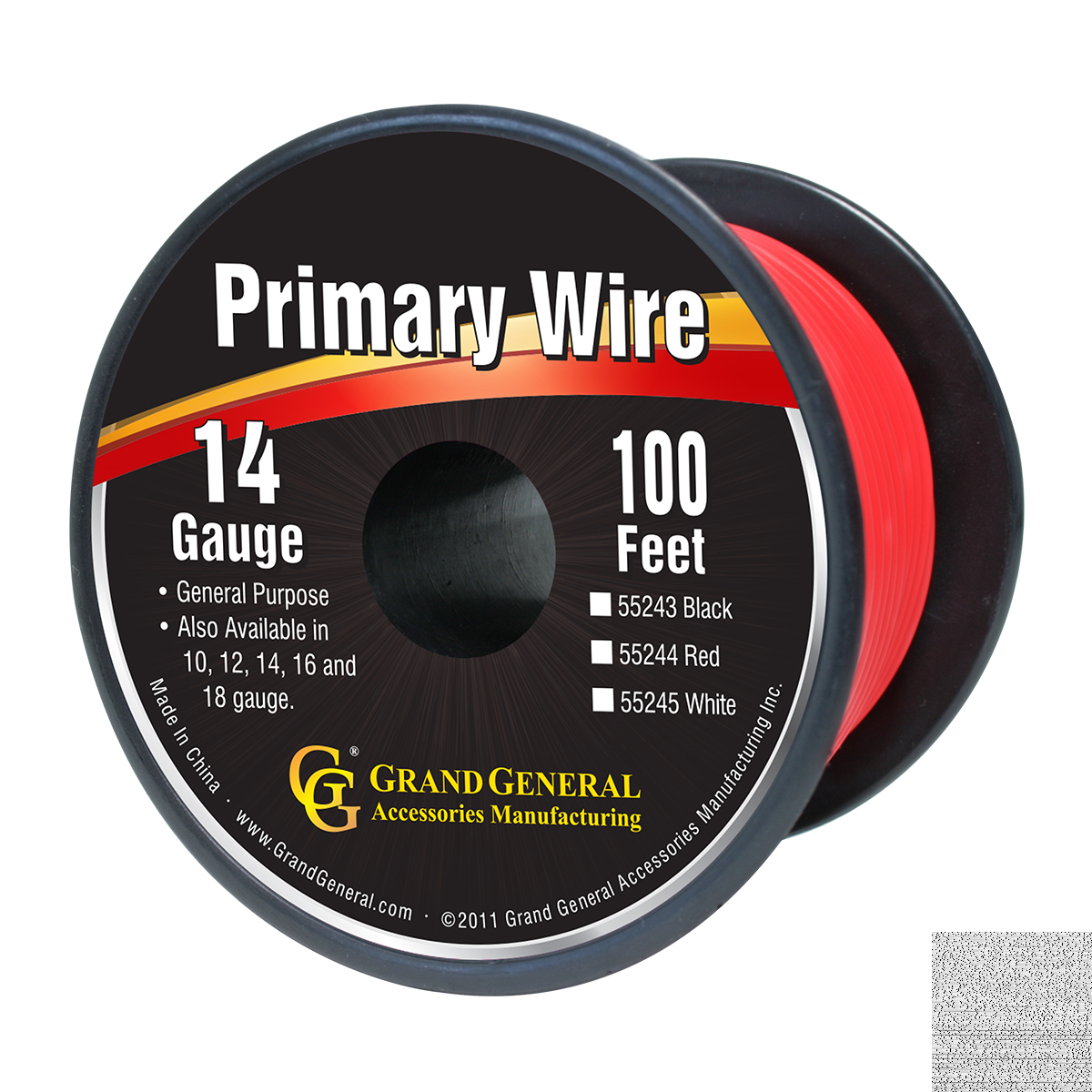 55244 Primary Wire in 14 Gauge, 100 Feet