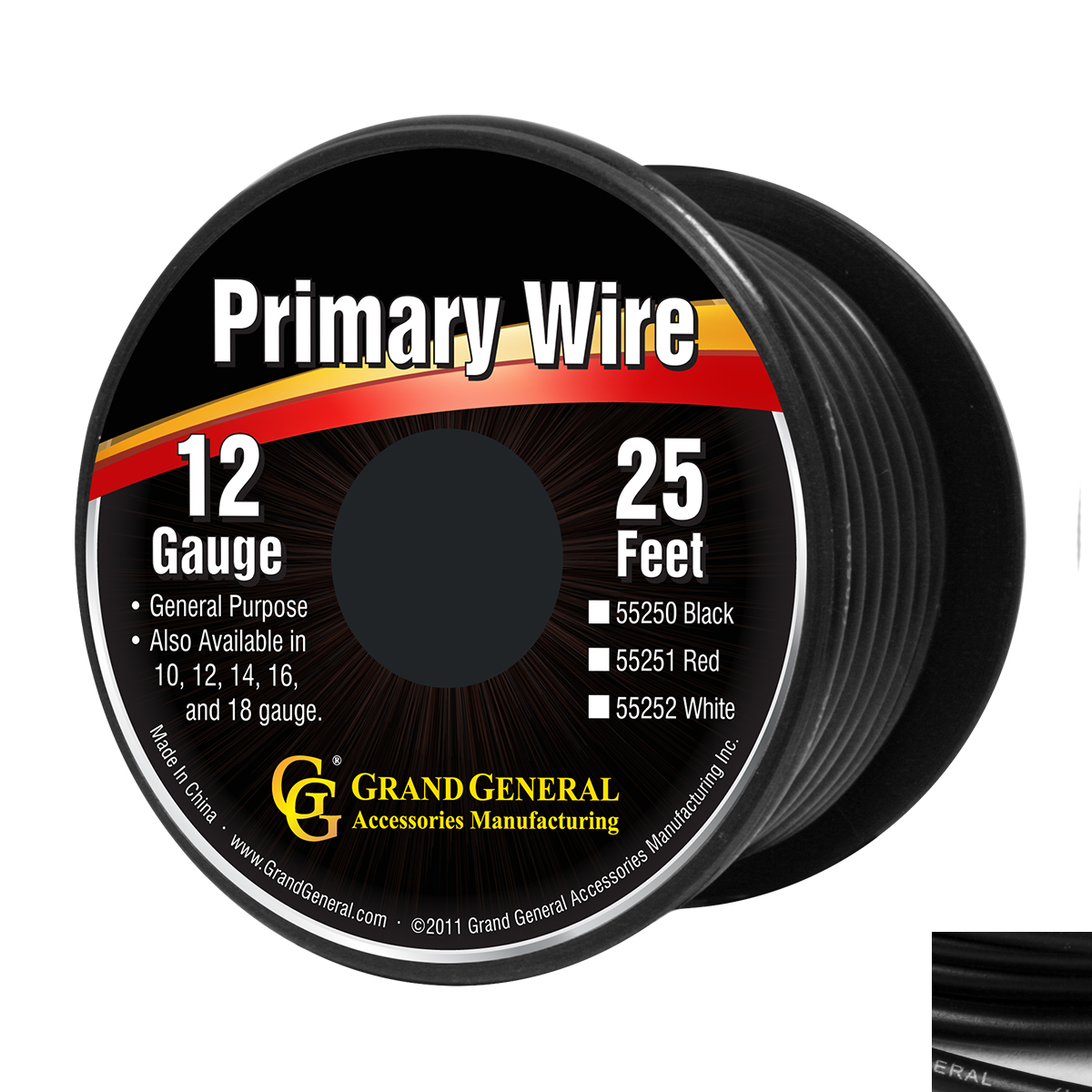 55250/55250SP Primary Wire in 12 Gauge, 25 Feet